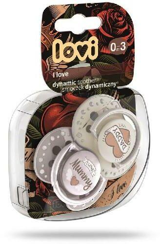 Lovi I Love dynamiczny smoczek silikonowy dla dzieci 0-3m 2 sztuki [22/866]