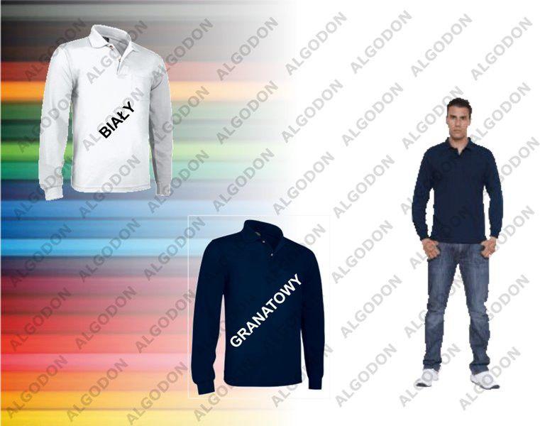 Koszulka Polo długi rękaw z kieszonką bawełna 220g/m2 Breda