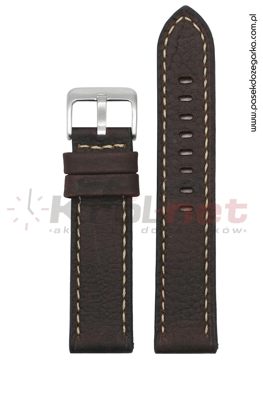 Pasek TK103BR/B/24 - brązowy, jasne przeszycia