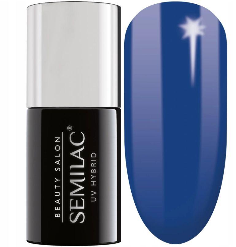 Semilac 911 BLUEBERRY BLUE SBS Lakier Hybrydowy 7ml