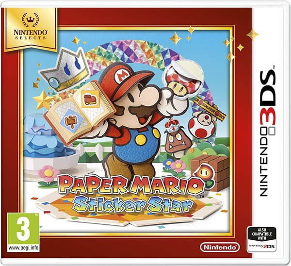 Gra Paper Mario: Sticker Star Selects (Nintendo 3DS)