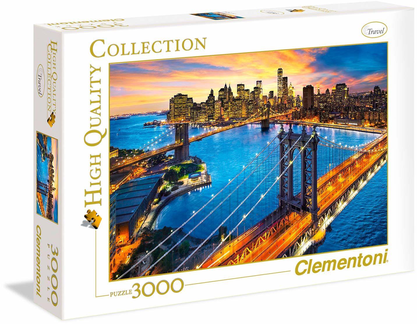 "Clementoni 33546"" New York 3000 części Puzzle High Quality Collection"