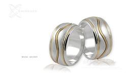 Obrączki srebrne - wzór Ag-093