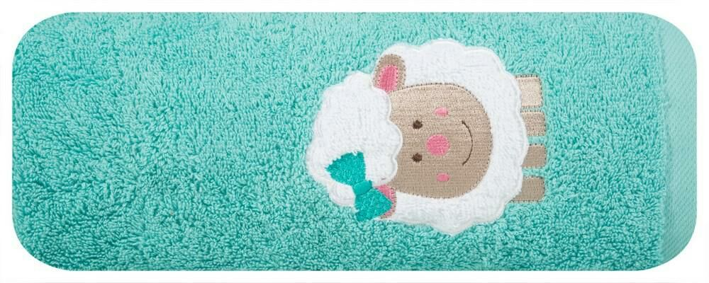 Ręcznik dziecięcy 50x90 Baby 31 owieczka miętowy 500g/m2 Eurofirany