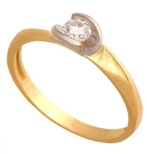 Złoty pierścionek zaręczynowy Pk599