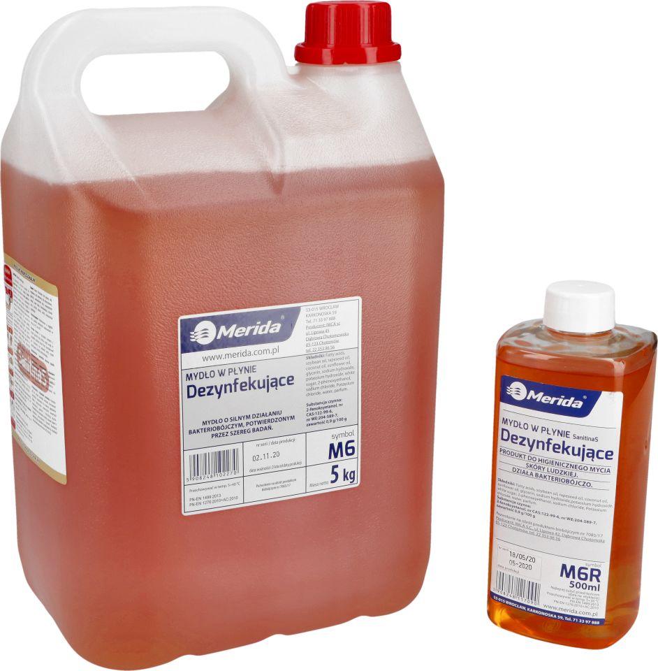 Mydło w płynie dezynfekujące (Merida)