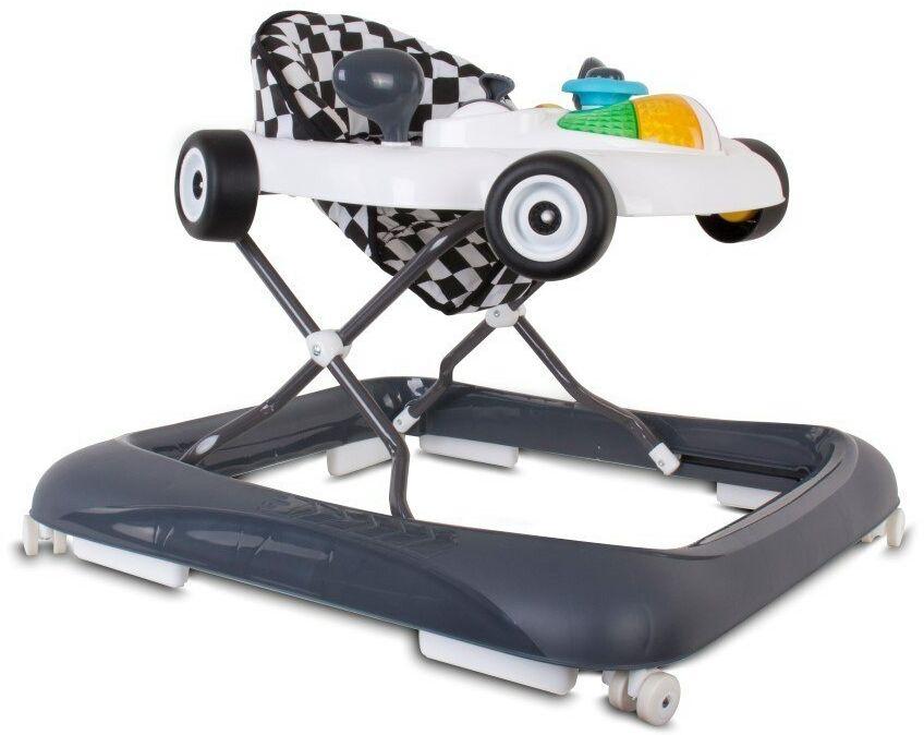 Chodzik wyścigówka - biało czarny Sun Baby