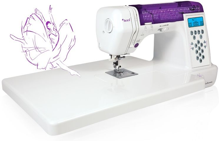 Komputerowa maszyna do szycia Texi Ballerina - 200 ściegów + GRATISY + RABAT dla zalogowanych