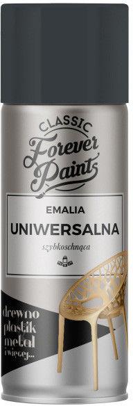 Emalia uniwersalna szybkoschnąca Forever Paints 400 ml antracyt