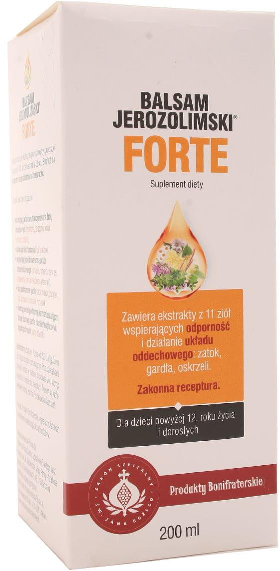 Balsam jerozolimski forte - Produkty Bonifraterskie - 200ml