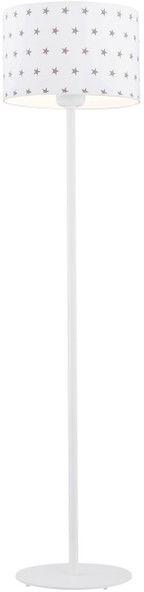Lampa podłogowa Magic 4129 Argon biała oprawa w szare gwiazdki do pokoju dziecięcego