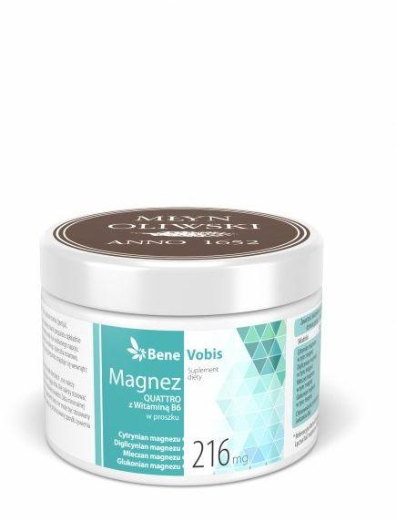 Bene Vobis - Magnez QUATTRO z witaminą B6 - 250g
