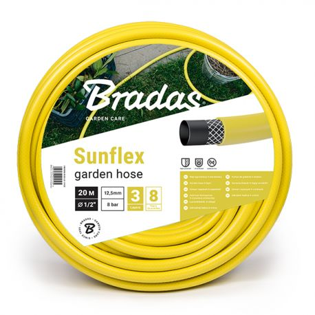 """Wąż ogrodowy Sunflex 3 warstwowy 5/8"""" 20m WMS5/820 Bradas 1780"""