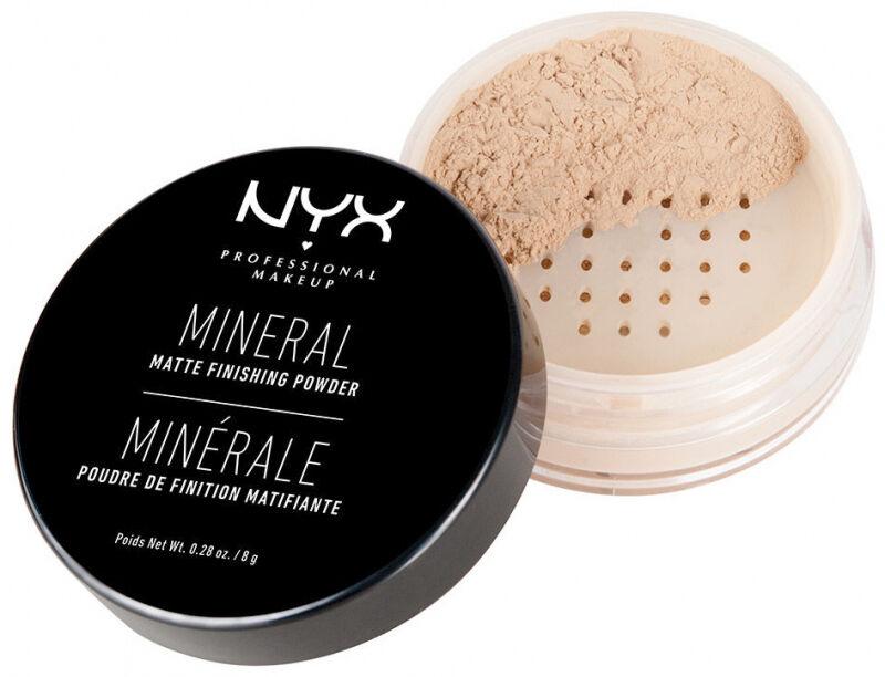 NYX Professional Makeup - MINERAL MATTE FINISHING POWDER - Puder mineralny - 02 - MEDIUM/DARK