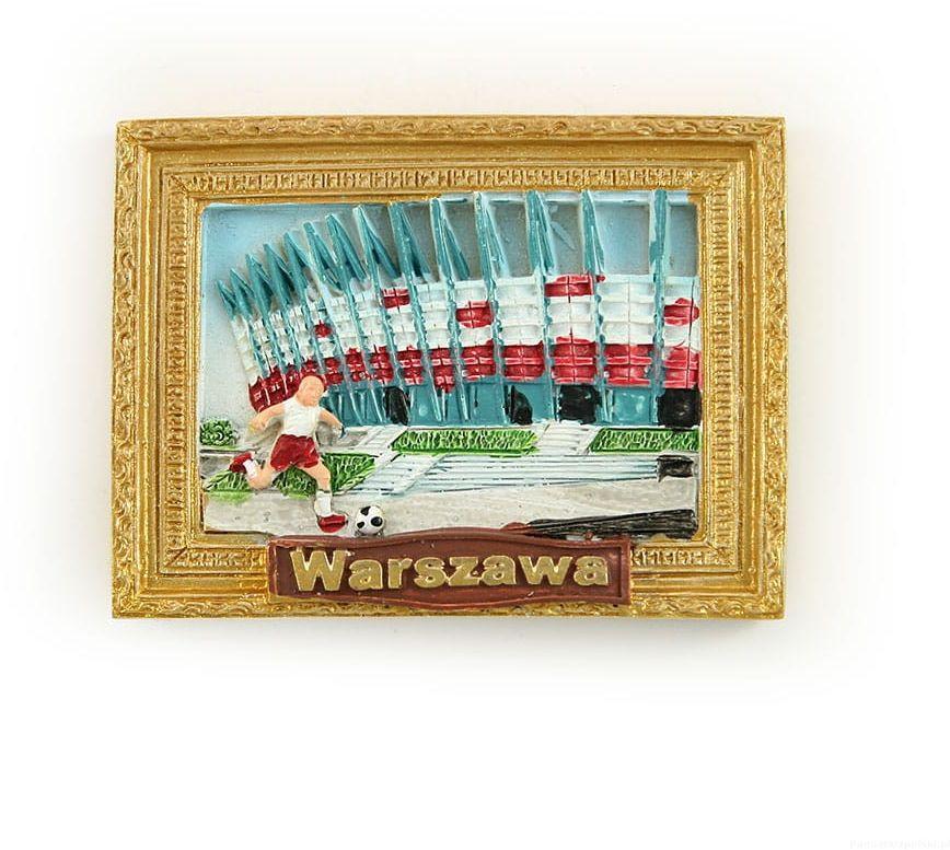 Magnes obraz złota rama Warszawa stadion