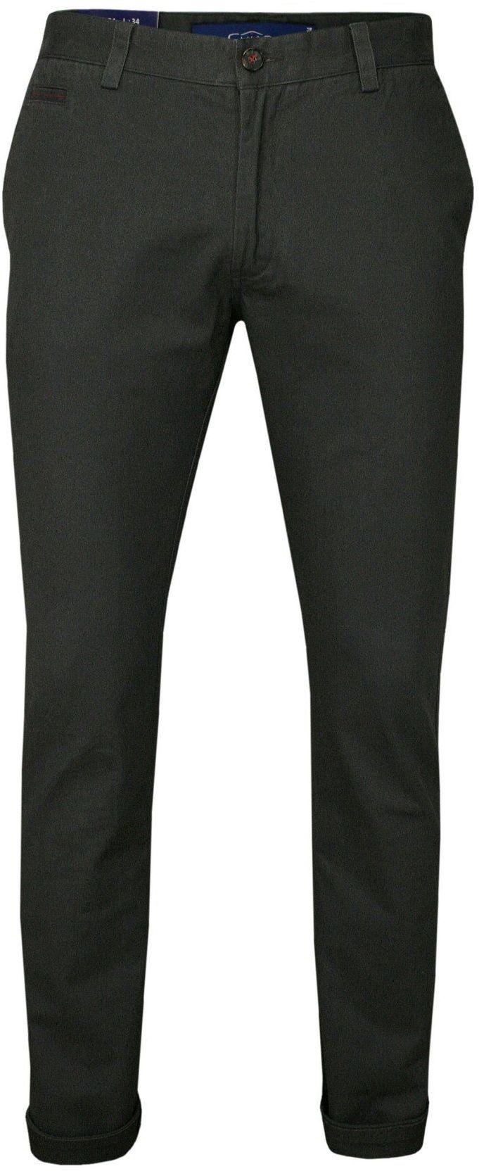 Grafitowe Bawełniane Spodnie Męskie, CHINOSY, Kolorowe Wykończenia -CHIAO- Mankiety SPCHIAOM4A01grafit