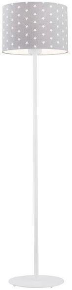 Lampa podłogowa Magic 4130 Argon szara oprawa w białe gwiazdki do pokoju dziecięcego