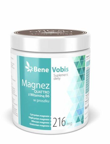 Bene Vobis - Magnez QUATTRO z witaminą B6 - 500g