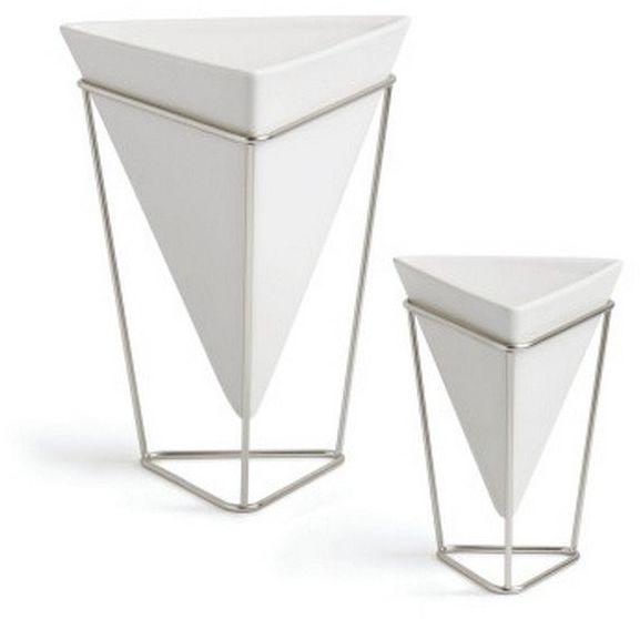 Umbra - wazon/pojemnik dekoracyjny trigg - 2 szt - nikiel biały