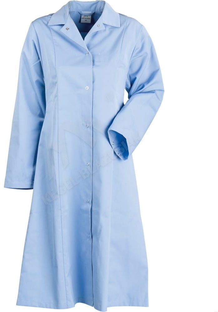 Fartuch damski HACCP, błękitny