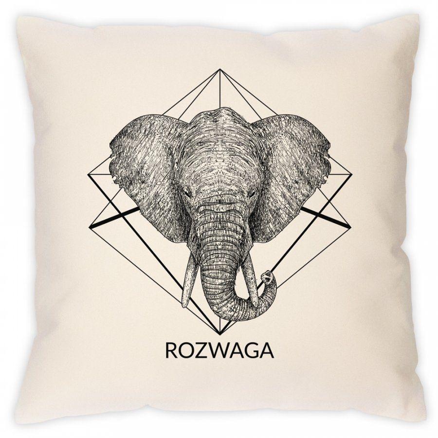 Poduszka personalizowana z nadrukiem SŁOŃ