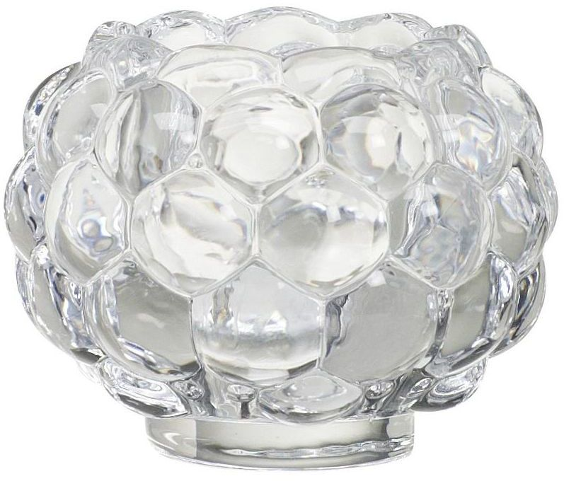Świecznik szklany dekoracyjny wys. 6 cm transparentny