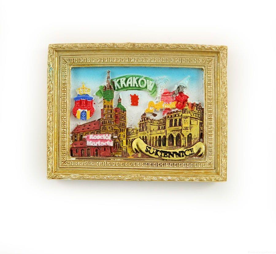 Magnes obraz złota rama Kraków Rynek