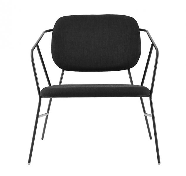 House Doctor KLEVER Krzesło Lounge Chair - Czarne