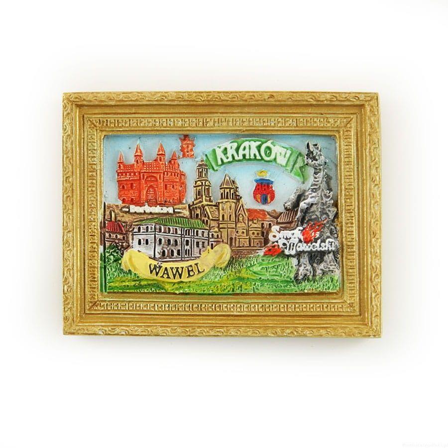 Magnes obraz złota rama Kraków Wawel