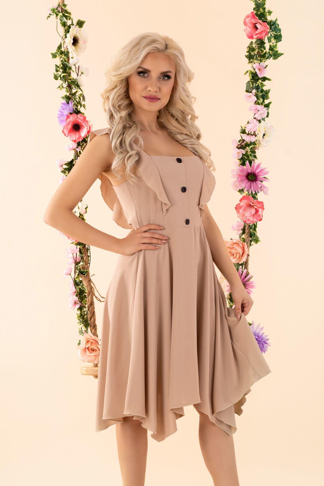 Quellama Beige D54 sukienka