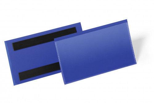 Kieszeń magazynowa magnetyczna 150x67mm DURABLE niebieska 50szt. 1742 07