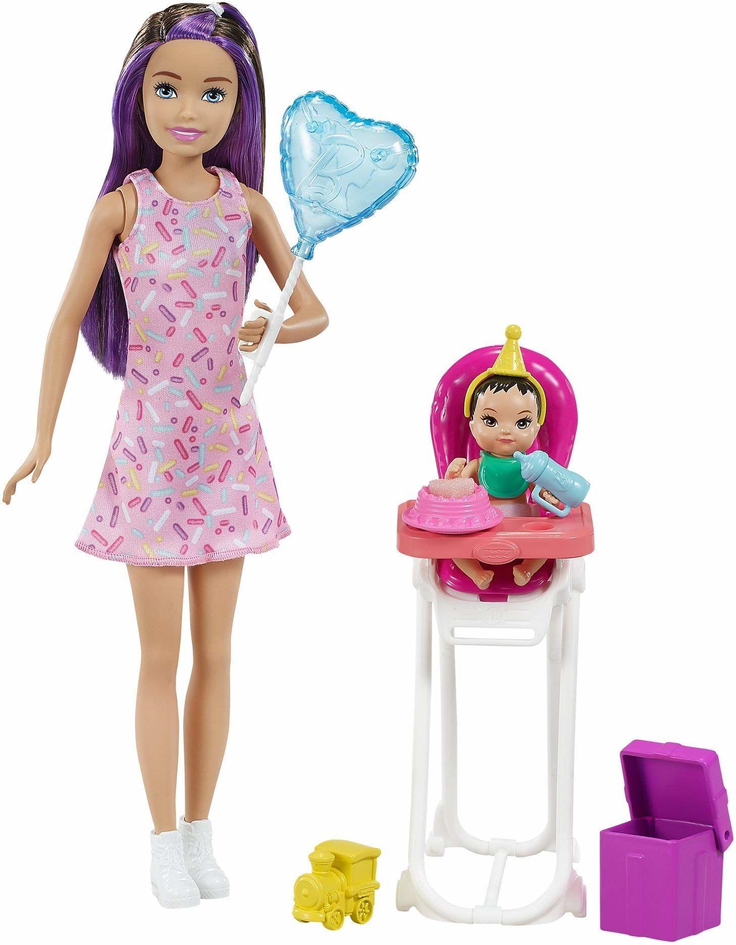 Barbie GRP40 Skipper Playset-Birthday (Brunetka)