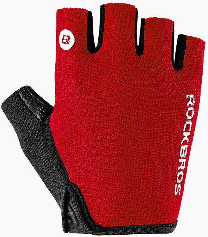 Rockbros rękawiczki rowerowe krótki palec, czarny-czerwony S106R Rozmiar: M,S106R-REK