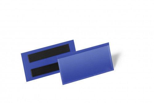 Kieszeń magazynowa magnetyczna 100x38mm DURABLE niebieska 50szt. 1741 07
