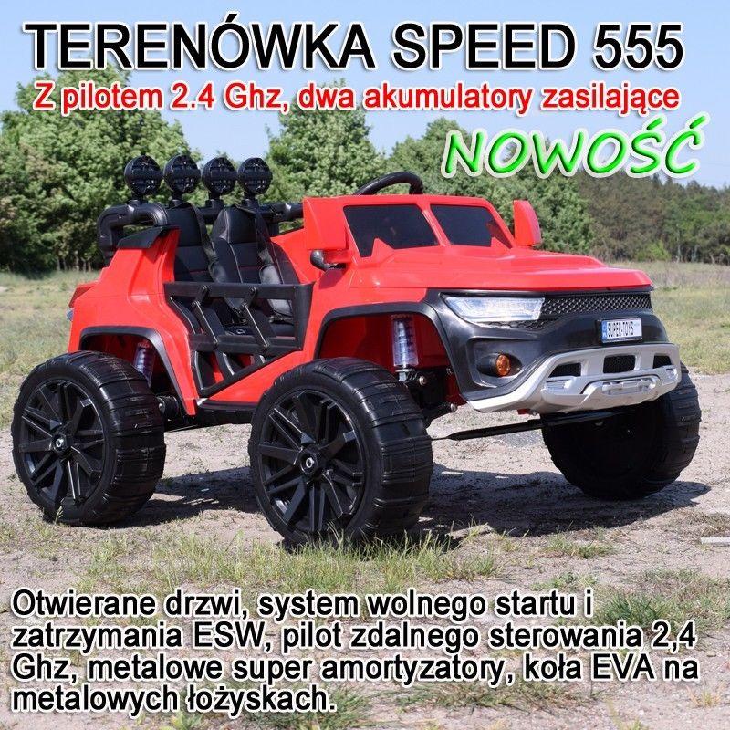 TERENÓWKA SPEED METALOWE AMORTYZATORY, ŁOŻYSKA, PILOT, WOLNY START, MIĘKKIE SIEDZENIE/RBT555