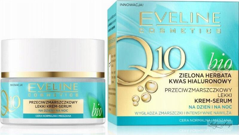 Eveline Cosmetics - Bio Q10 - Przeciwzmarszczkowy lekki krem serum do twarzy - Dzień / Noc - 50 ml