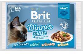 Brit Premium Cat Gravy Fillets Dinner Plate Mix Smaków 340 g