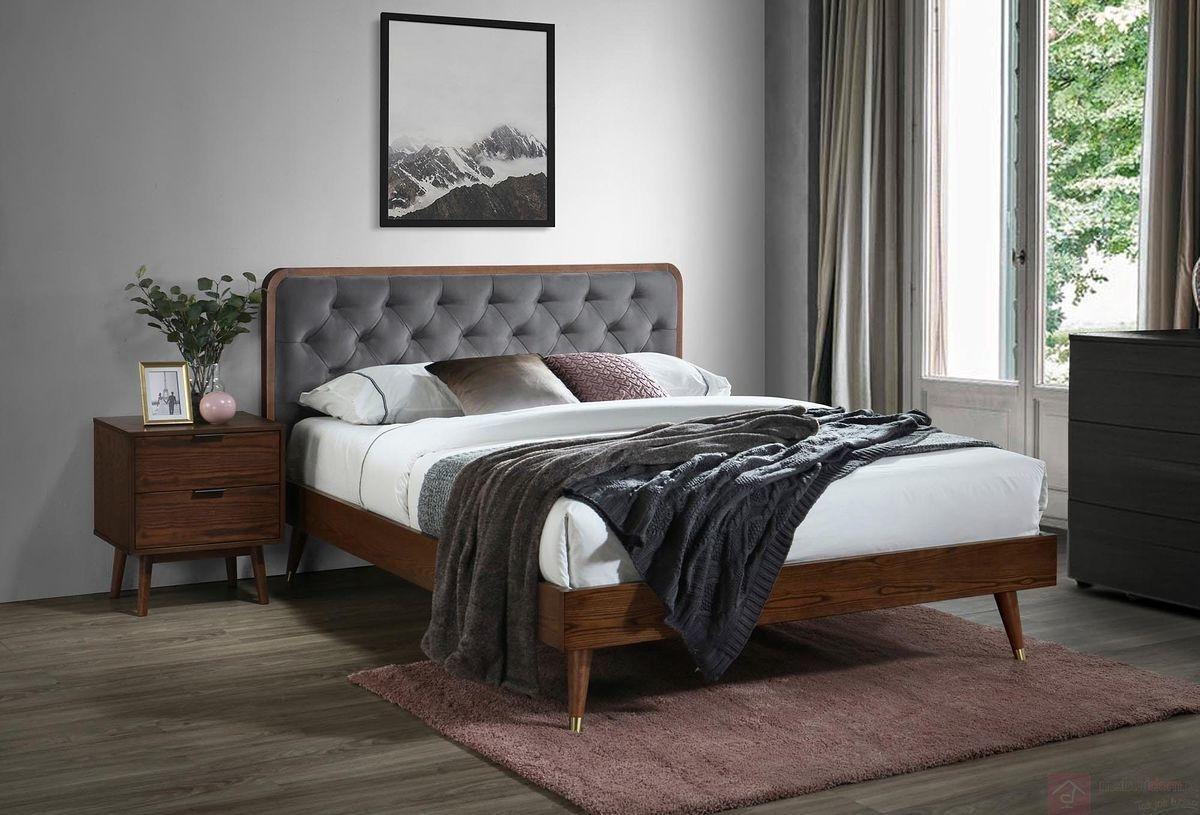 KUPON 10% NA STRONIE  Łóżko tapicerowane CASSIDY Halmar 160x200 cm, Orzech [Wysyłka 2020-11-17]