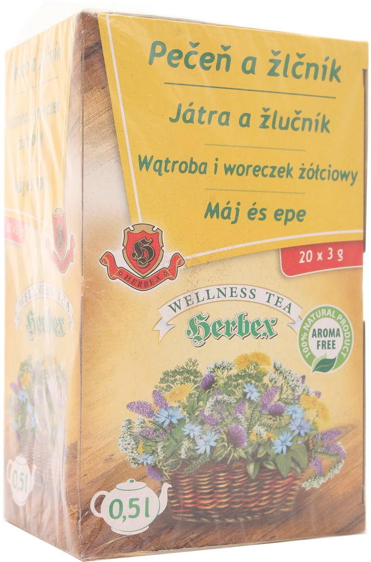 Herbata wątroba i woreczek żółciowy - Herbex - 20t