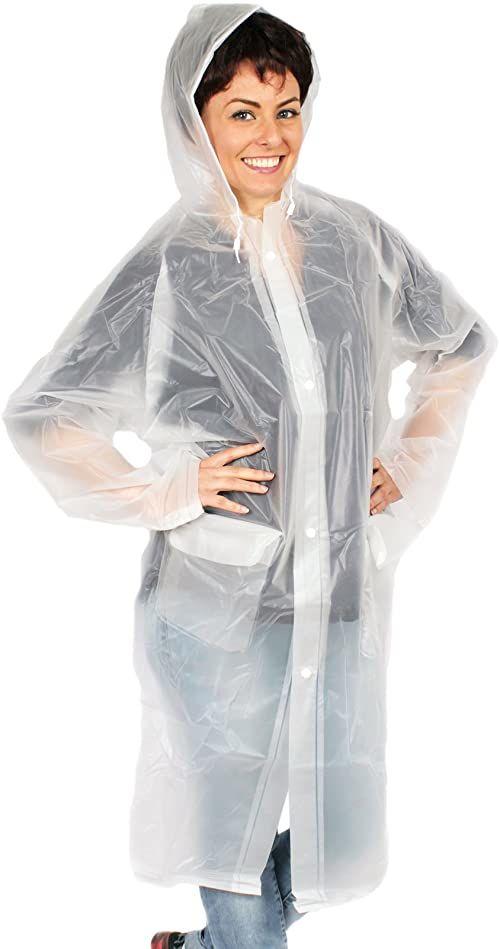 deeel Basics 11079 płaszcz przeciwdeszczowy damski przezroczysty L