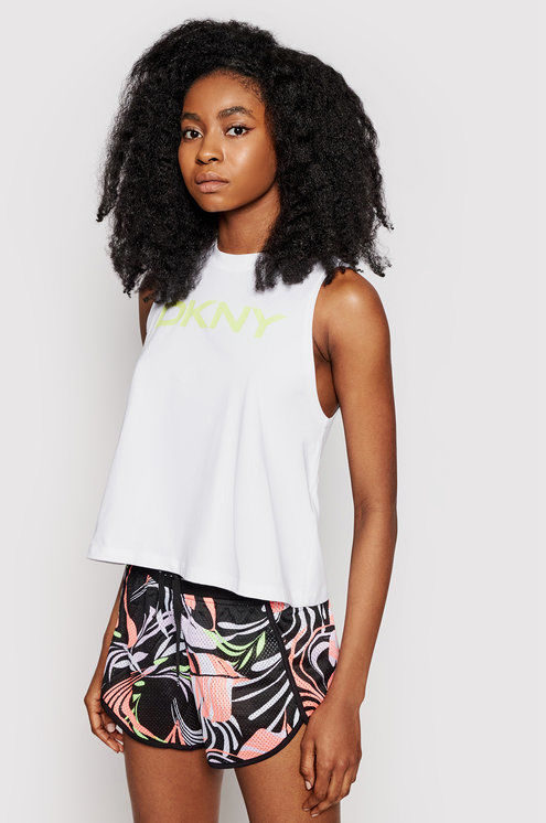 DKNY Sport Top DP1T8084 Biały Relaxed Fit