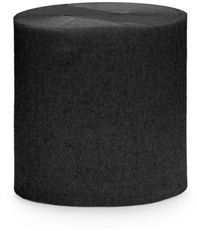 Krepa dekoracyjna czarna 5cm 10m 4 szt. KREP1-010