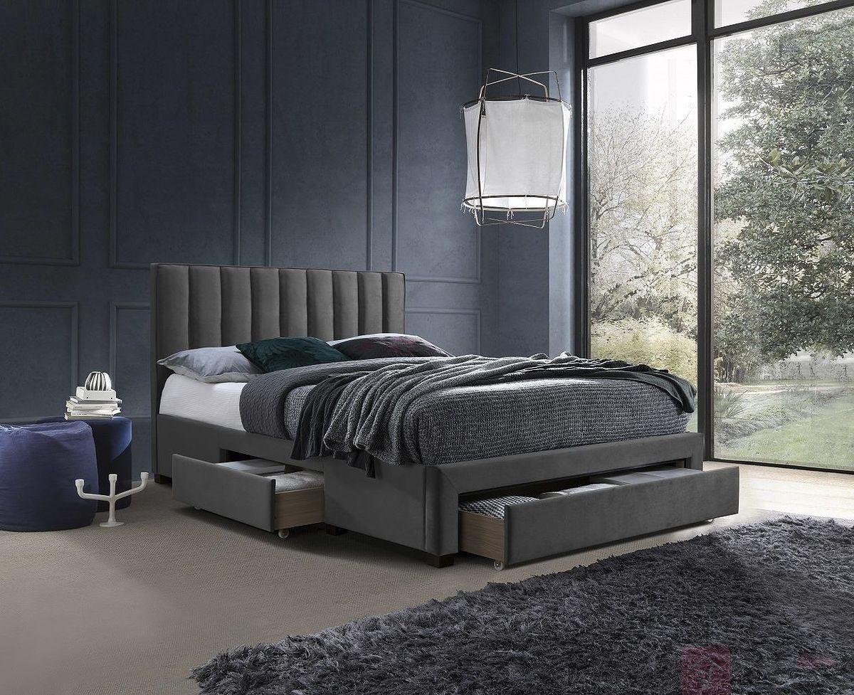 Łóżko GRACE 160 Halmar Szary, 160x200 cm [Wysyłka 2020-09-15]