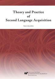 """""""Theory and Practice of Second Language Acquisition"""" 2016. Vol. 2 (2) - Ebook."""