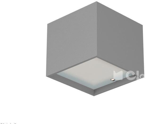 Cleoni kinkiet Kubik ścienny aluminiowy T049C2Kh
