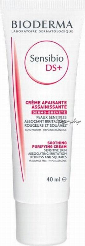 BIODERMA - Sensibio DS+ Soothing Purifying Cream - Krem przeciw podrażnieniom - 40 ml