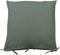 HomeMaison Poduszka wyprana, len, zielona/szara, 45 x 45 cm