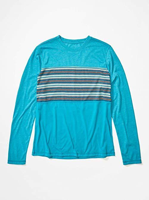 Marmot Męska koszulka z długim rękawem Echo View męska koszulka z długim rękawem niebieski niebieski (Enamel Blue) XL