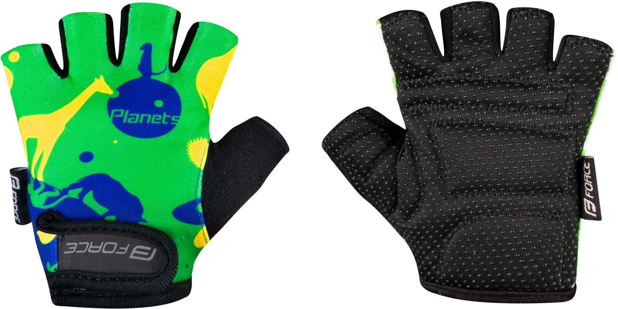 FORCE rękawiczki rowerowe dziecięce PLANETS yellow/green 9053233 Rozmiar: XL,planets9053233