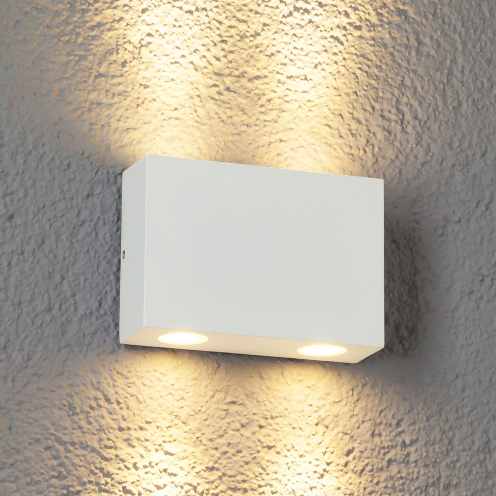 4-pkt. zewnętrzna lampa ścienna LED HENOR, biała